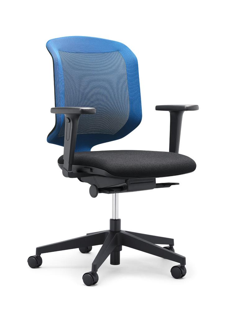 scaun albastru birou mesh