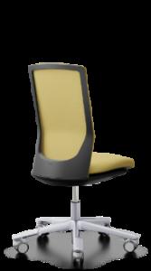 scaun birou mesh galben