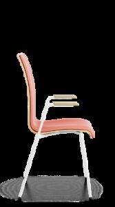 scaun cu brate tapitat