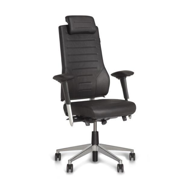 scaun de piele cu tetiera