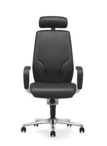 scaun din piele cu tetiera