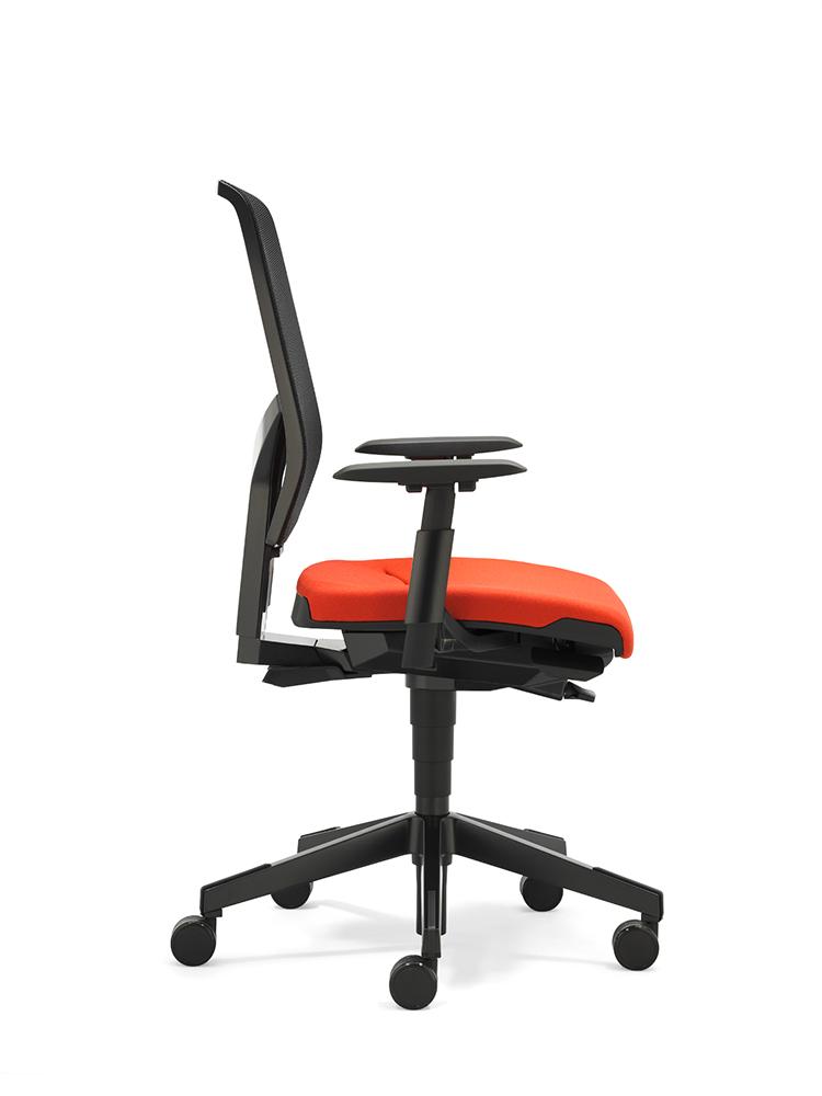 scaun mesh birou portocaliu