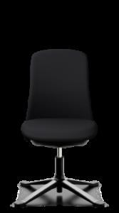 scaun negru birou spatar scurt