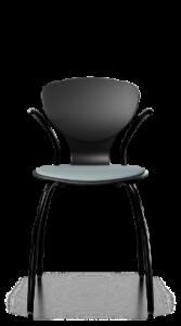 scaun negru cu brate