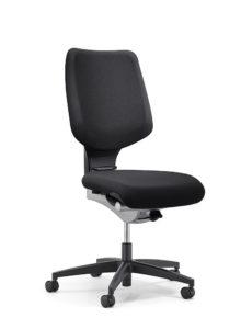 scaun negru fara brate