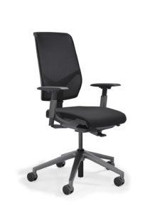 scaun negru mesh