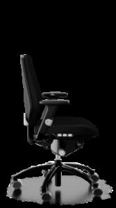 scaun negru reglabil