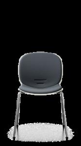 scaun negru tapitat