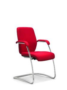 scaun rosu vizitator