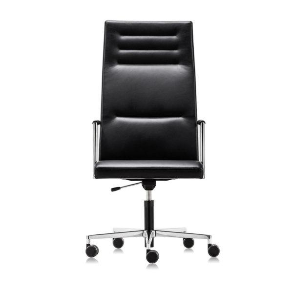 scaun rotativ piele inalt