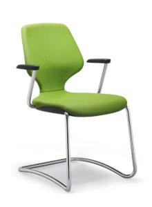 scaun verde vizitator