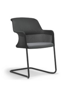 scaun vizitator negru