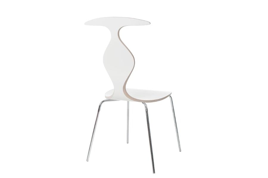 scaun alb placaj