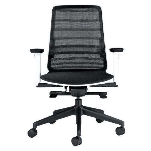 scaun mesh alb negru