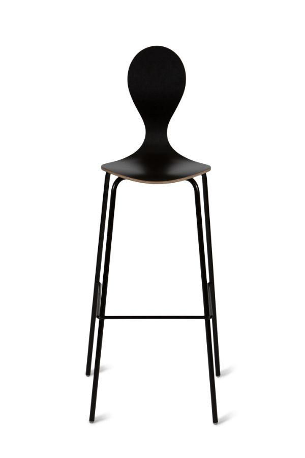scaun negru bar