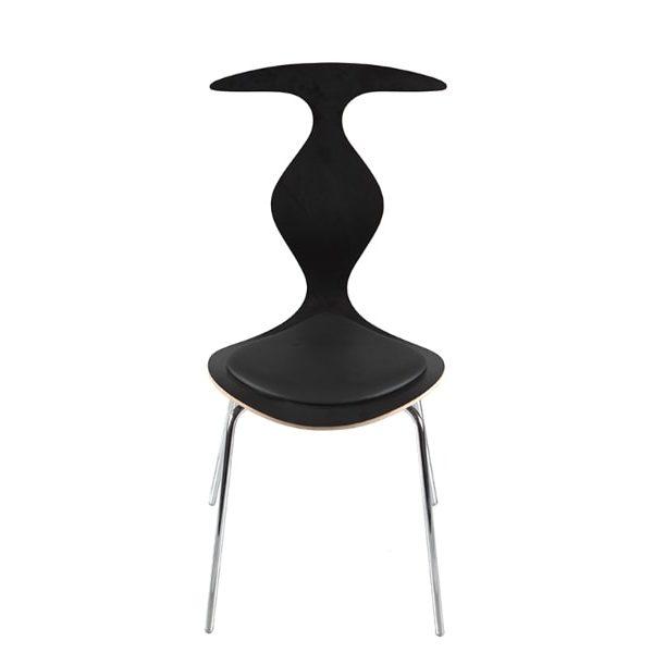 scaun negru stivuibil