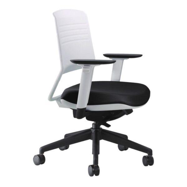scaun office alb negru