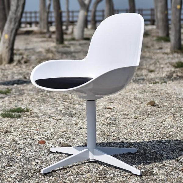 scaun rotativ alb