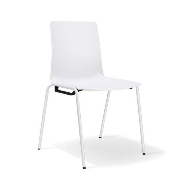 scaun alb stivuibil