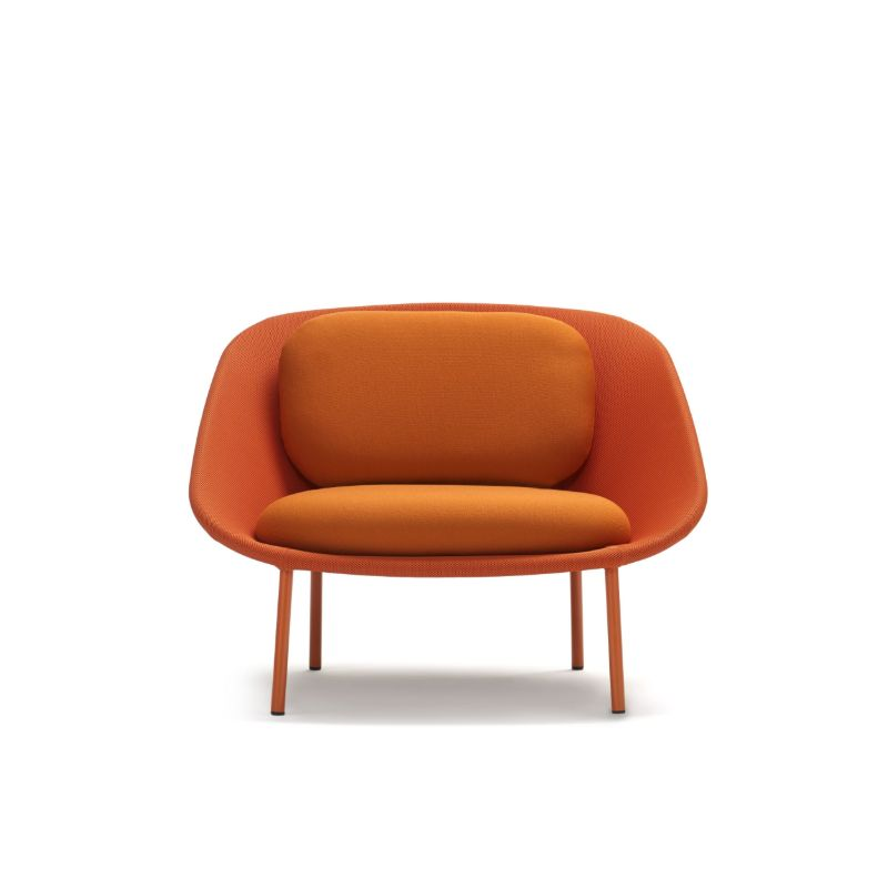 fotoliu lounge scandinav portocaliu