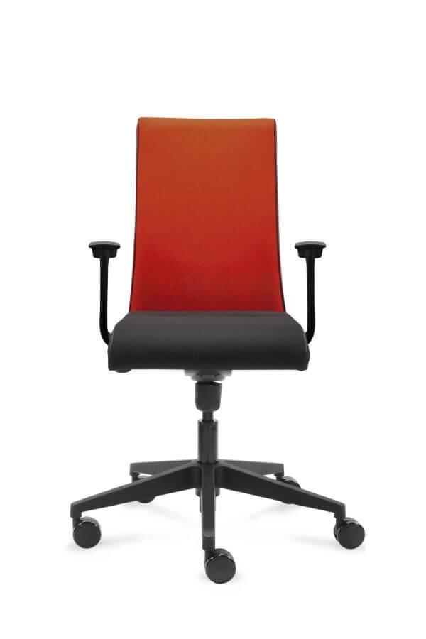 scaun birou rosu negru