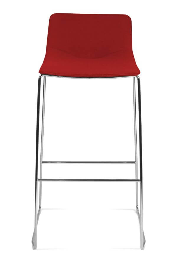 scaun rosu de bar