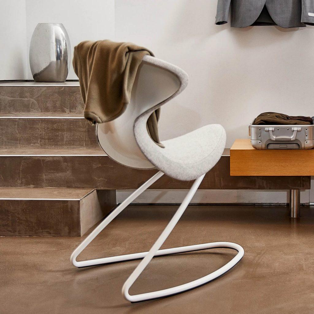 scaun alb design
