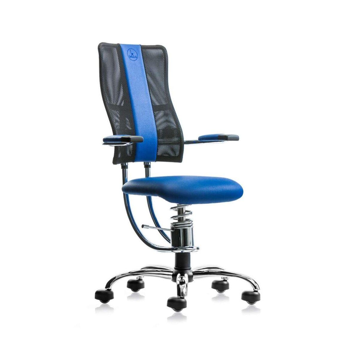 scaun ergonomic albastru