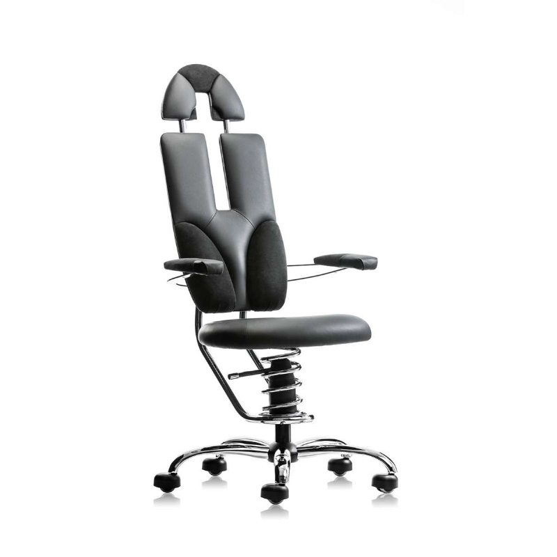 scaun ergonomic birou gri