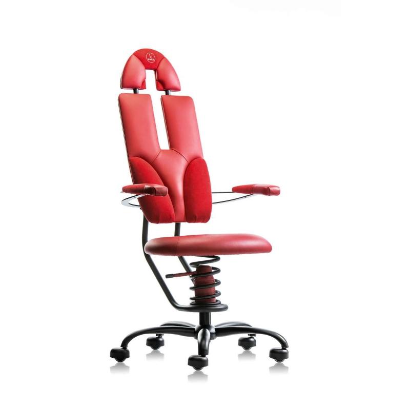 scaun ergonomic birou rosu