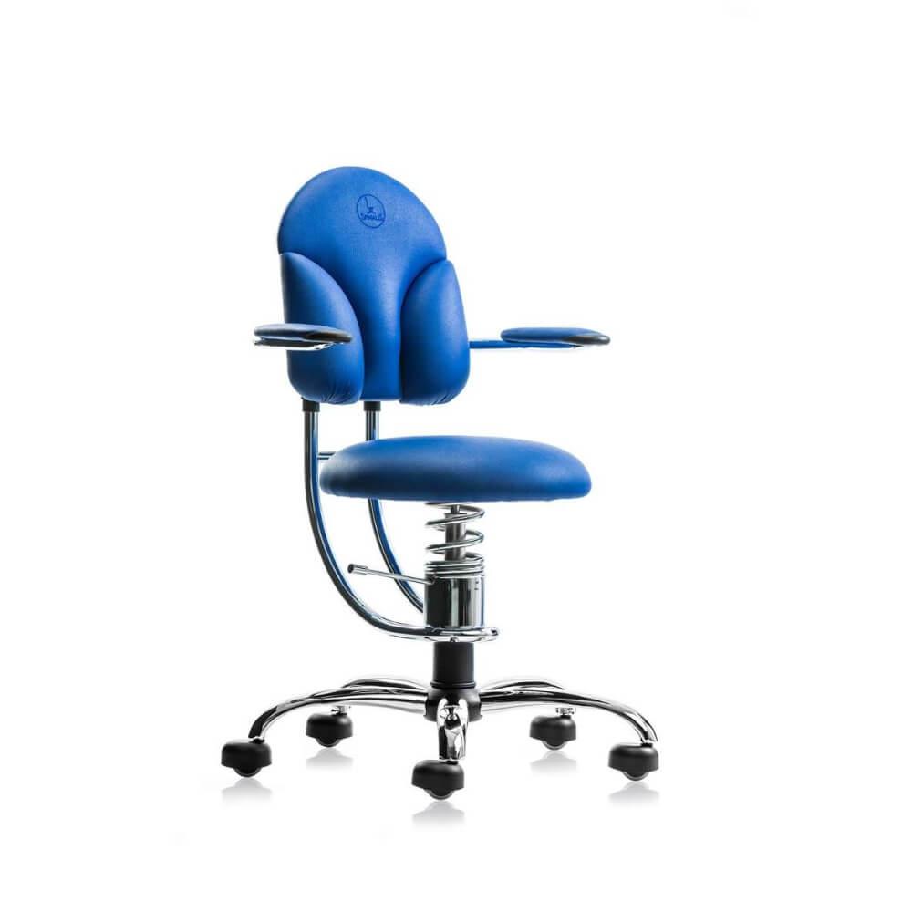 Scaun birou rotativ albastru