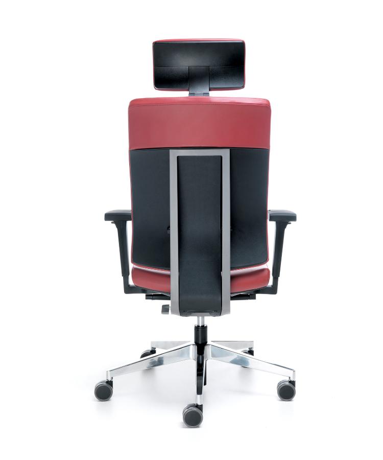 saun ergonomic rosu negru