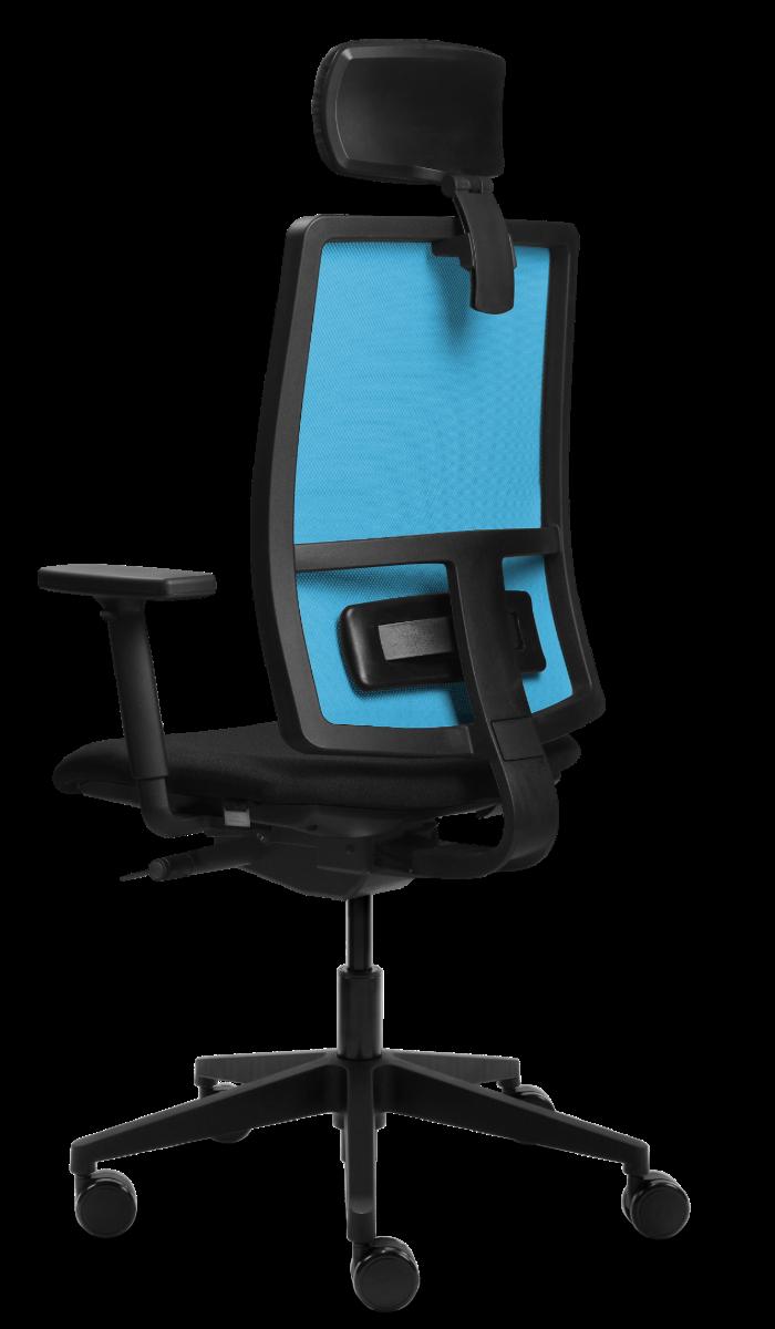 scaun ergonomic mesh albastru