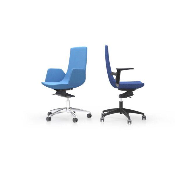 scaun birou albastru ergonomic