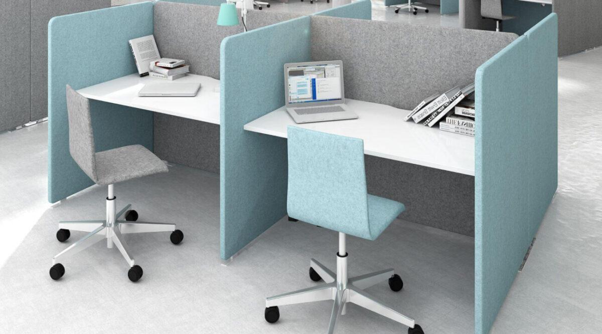 scaun birou bleu modern