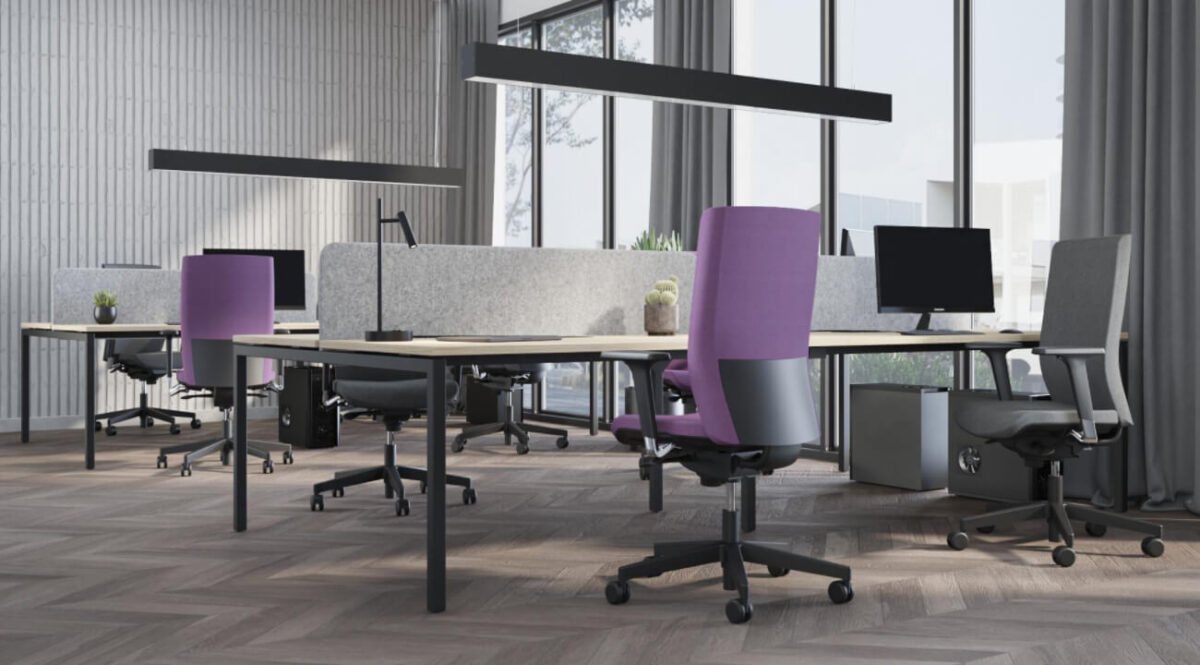 scaun birou lila mesh