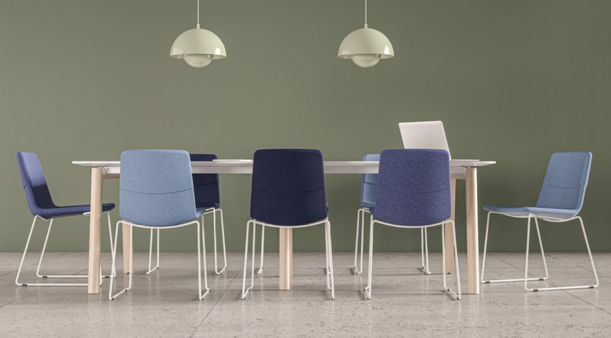 scaun conferinte albastru