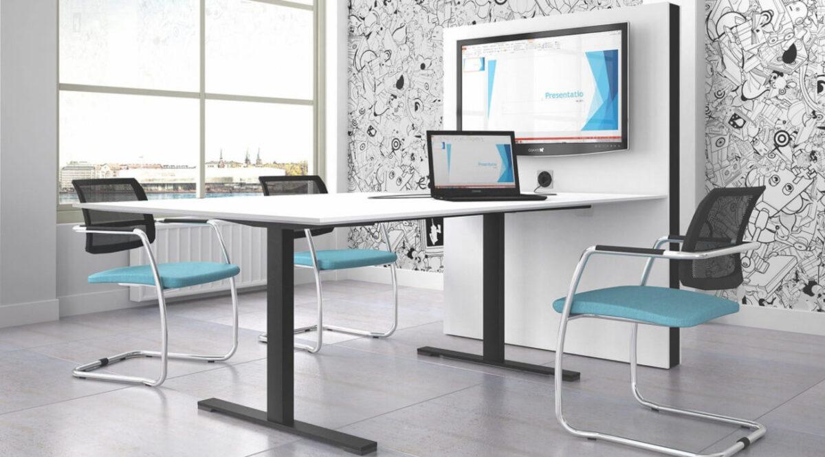 scaun conferinte bleu modern