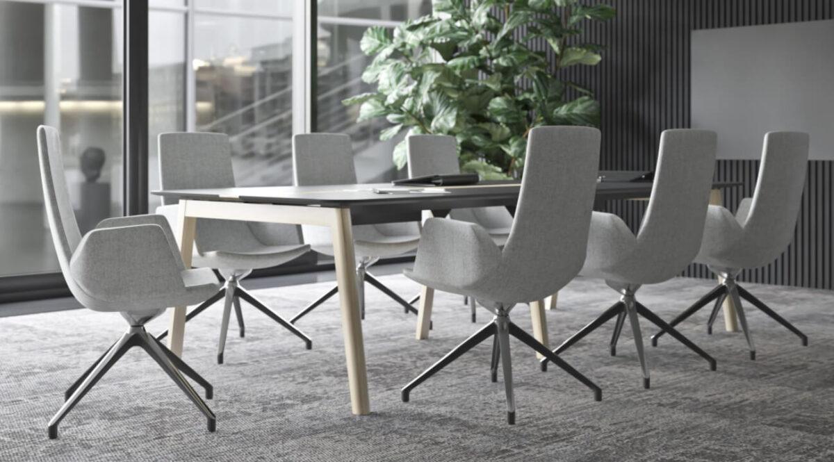 scaun conferinte gri birouri