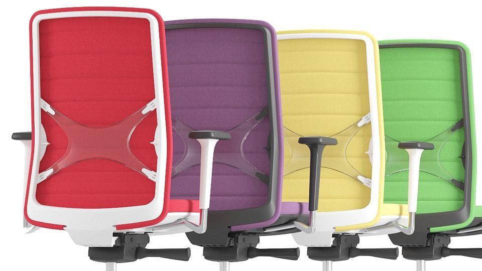 scaune colorate birou