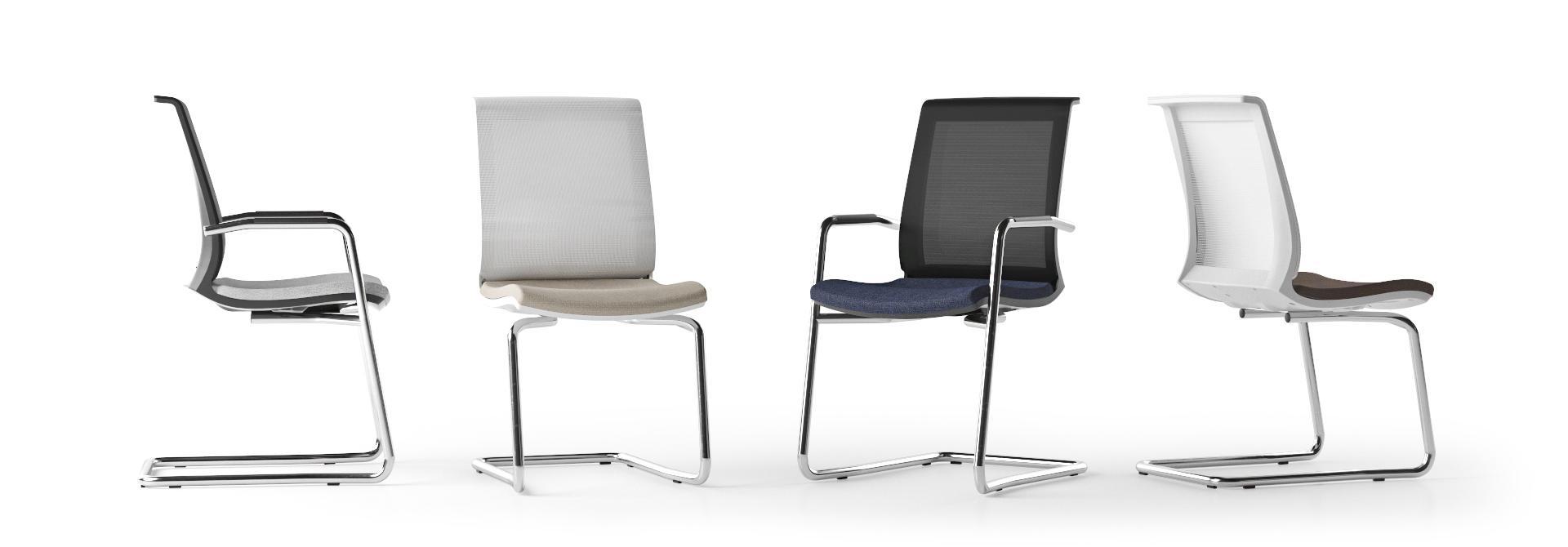 scaune vizitator stivuibile