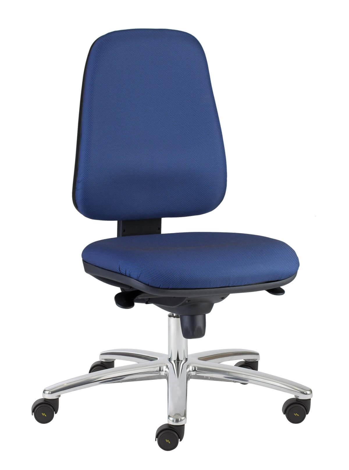 scaun de lucru albastru
